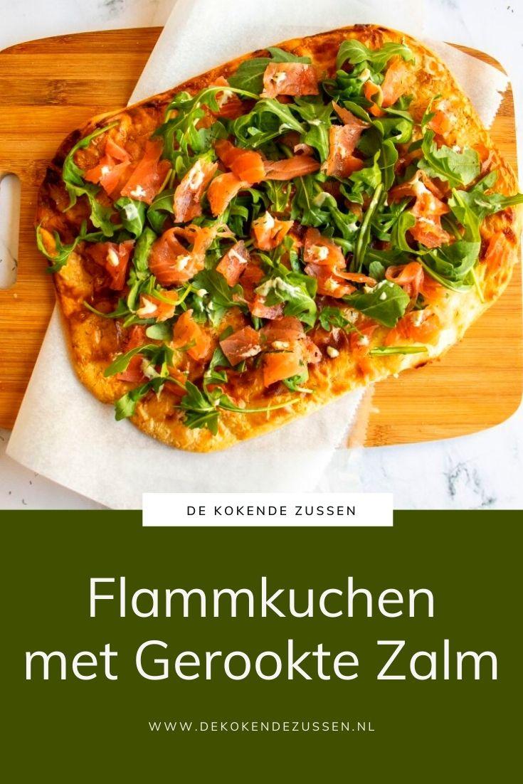 Flammkuchen met Gerookte Zalm en Truffelmayonaise