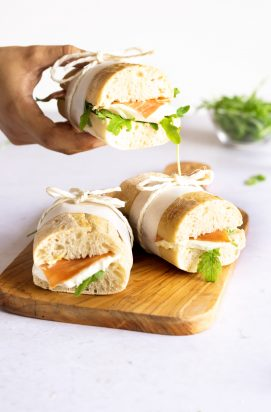 Broodje met Serranoham en Mozzarella
