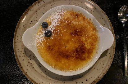 Crème brûlée bij Movida in Zakynthos