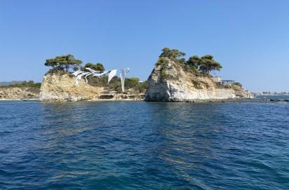 Cameo Island vanaf de boot