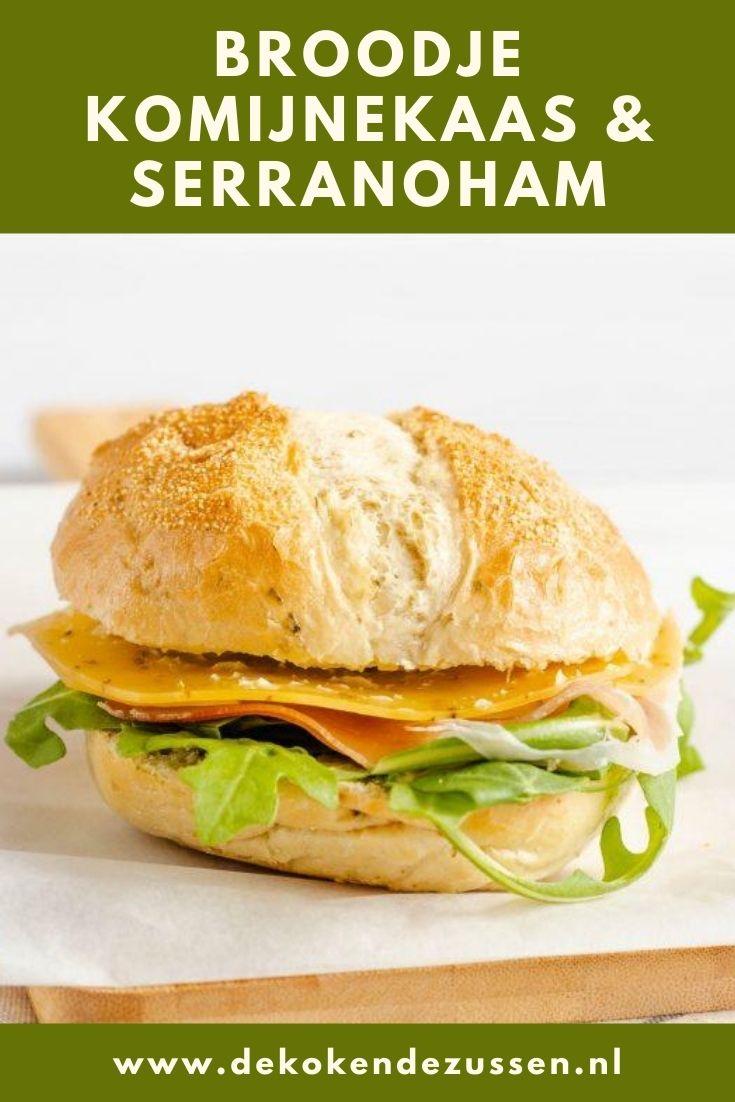Broodje met Komijnekaas en Serranoham