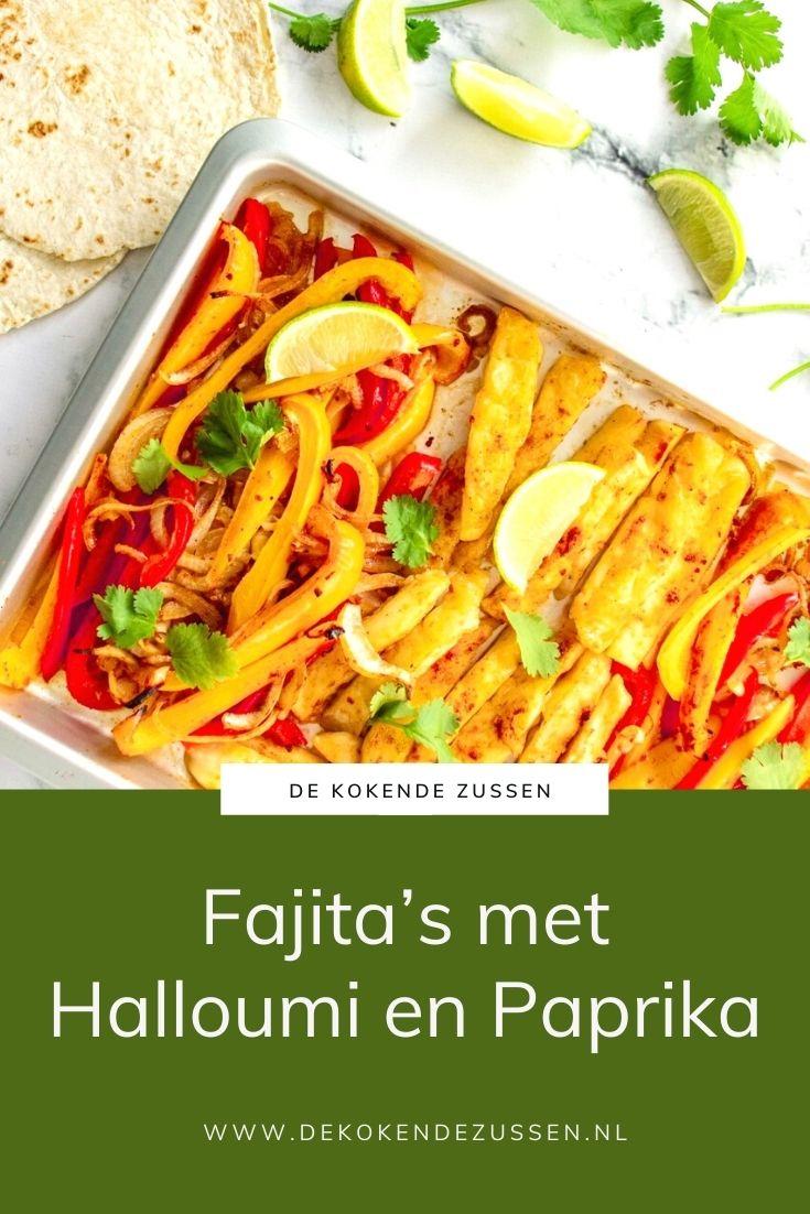 Fajita's met Halloumi en Paprika