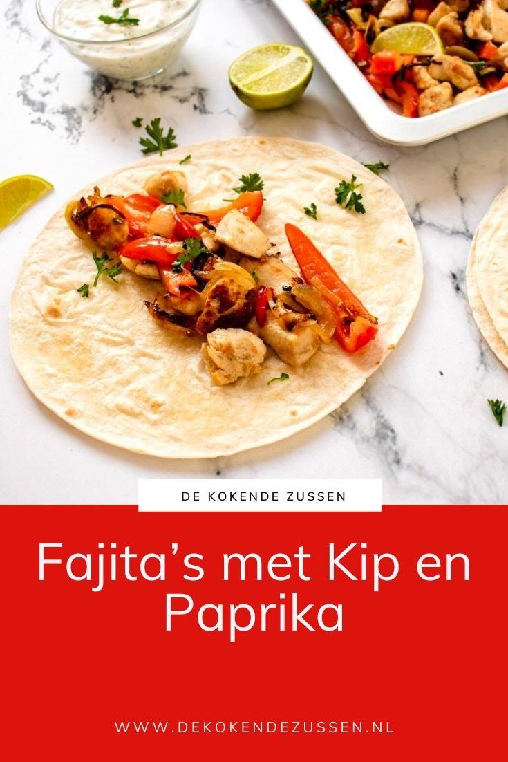 Fajita met Kip en Paprika