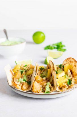 Tropische Taco's met Kip en Ananas