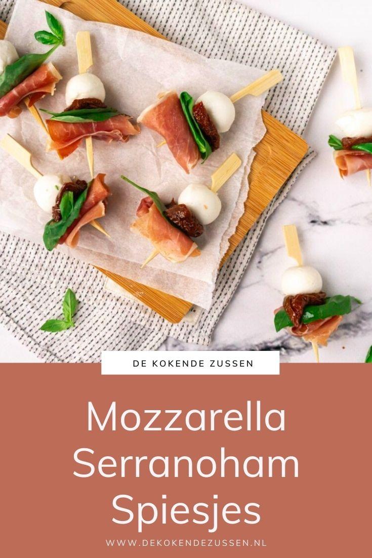 Mozzarella Spiesjes met Serranoham