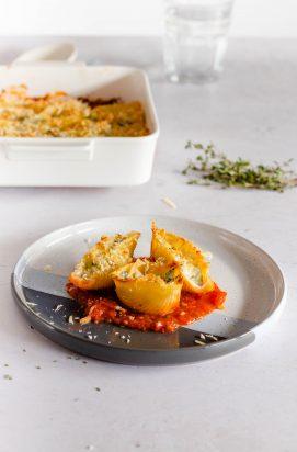 Pasta Schelpen gevuld met Ricotta en Spinazie