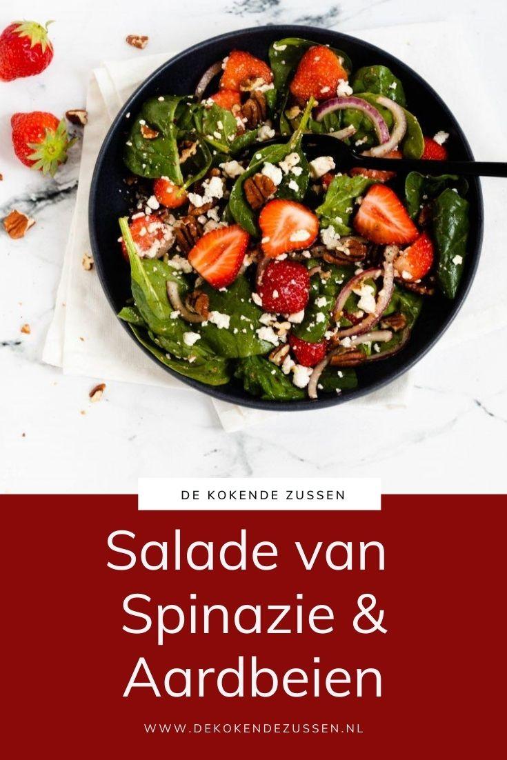 Spinazie Salade met Aardbeien