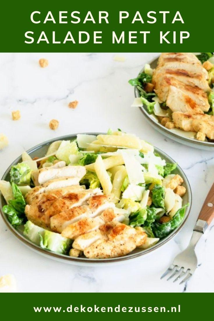 Caesar Pasta Salade met Kip