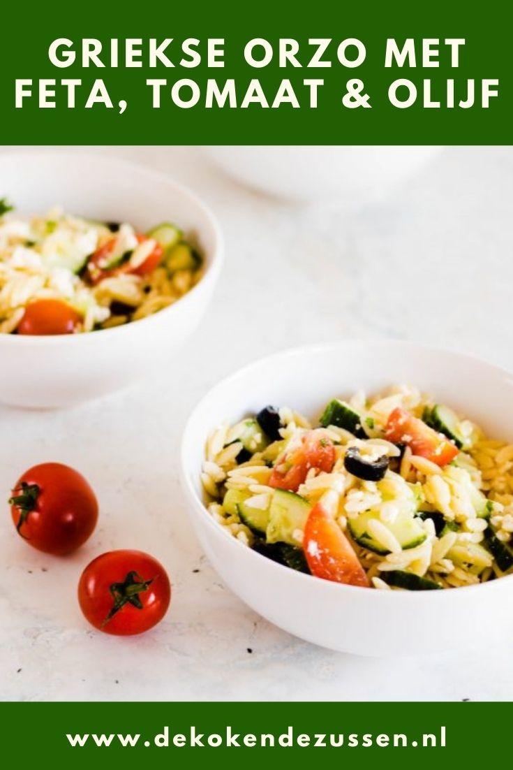 Griekse Orzo Pastasalade