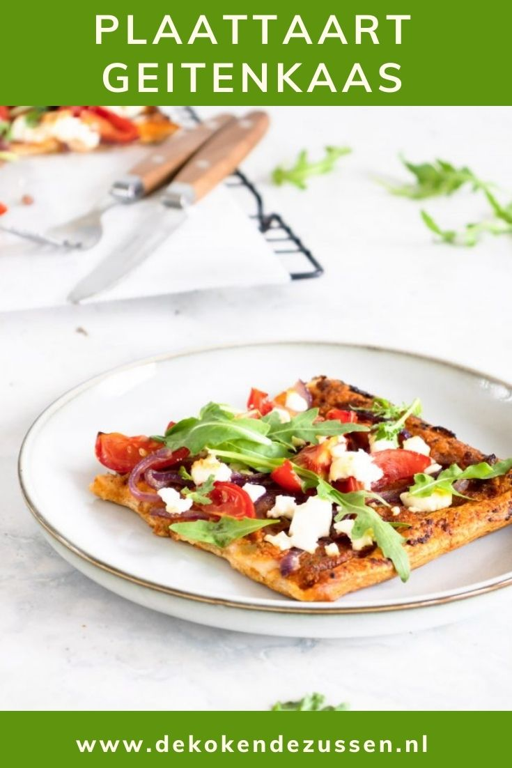 Plaattaart met Geitenkaas en Tomatentapenade