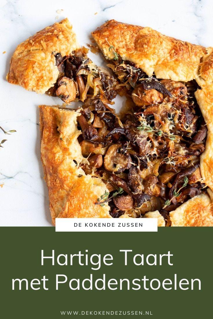 Hartige taart met paddenstoelen, tijm & Zwitserse gruyère