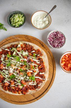 Vegetarische Turkse Pizza