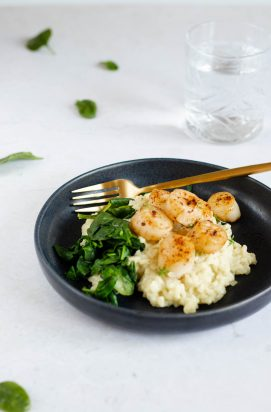 Risotto met Coquilles
