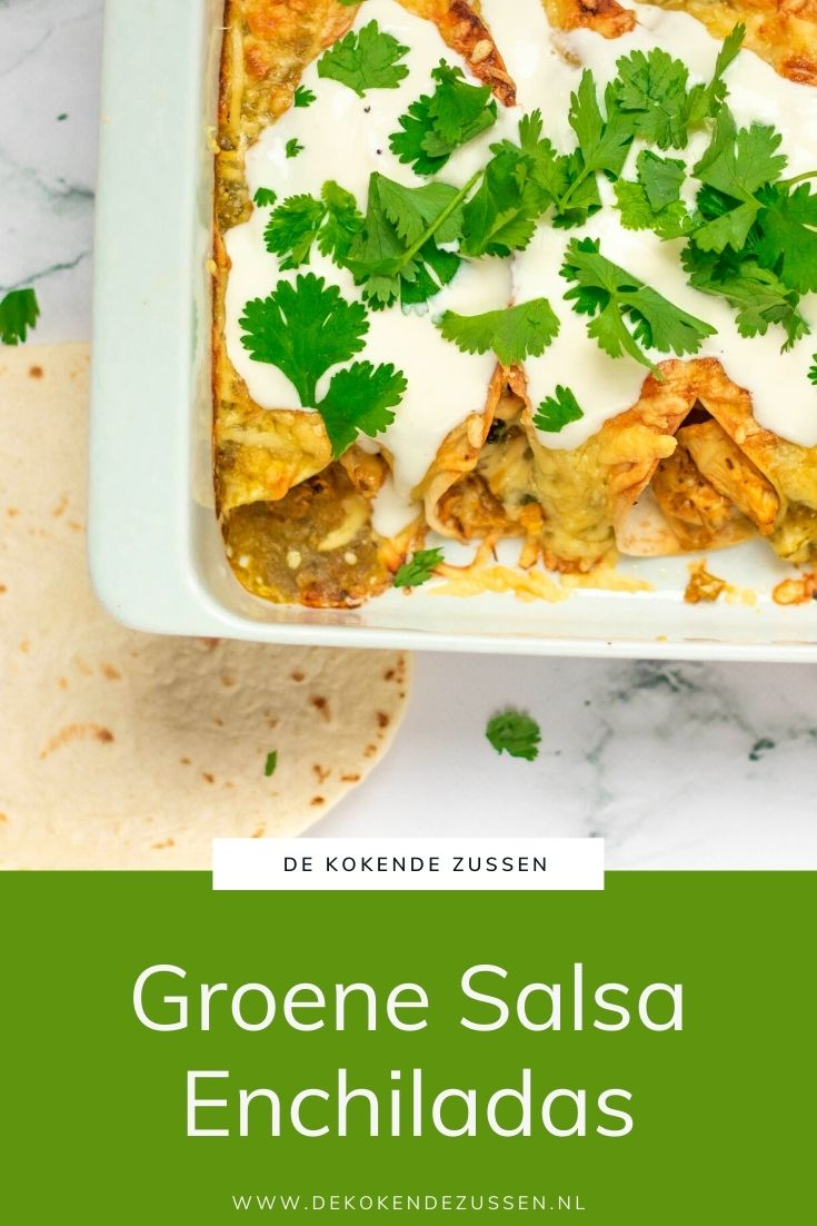 Kip Enchiladas met Groene Salsa
