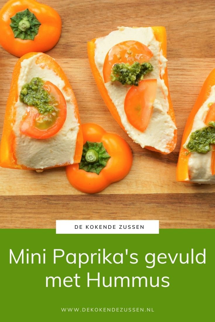 Mini Paprika met Hummus