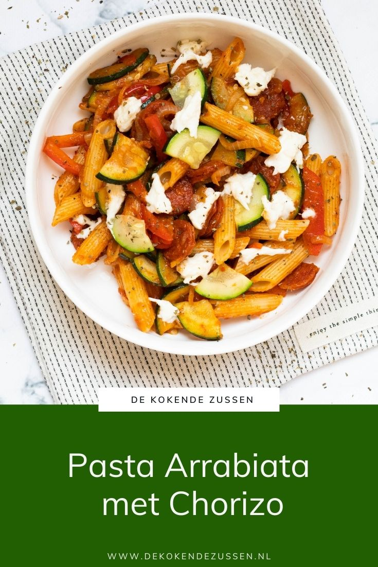 Pasta Arrabiata met Chorizo