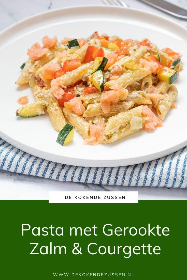 Pasta met Zalm, Paprika en Courgette