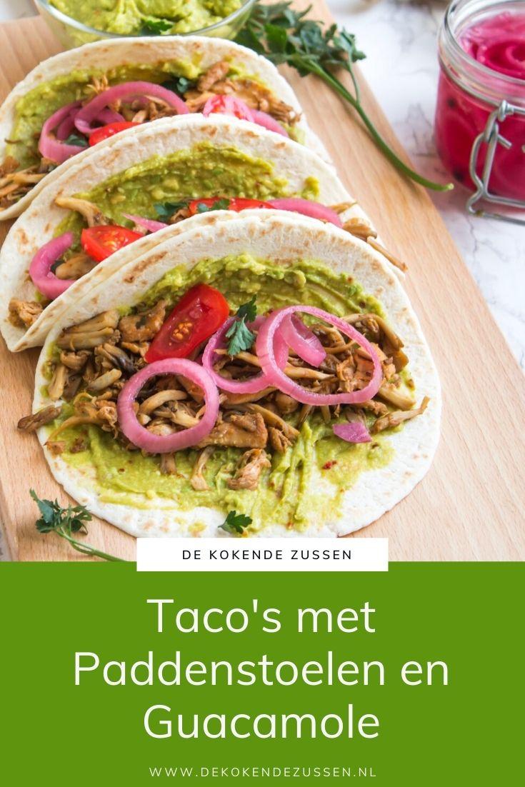 Taco's met Paddenstoelen en Guacamole