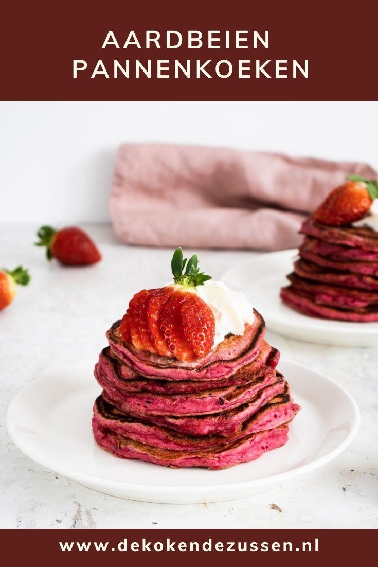 Aardbeien Pannenkoeken