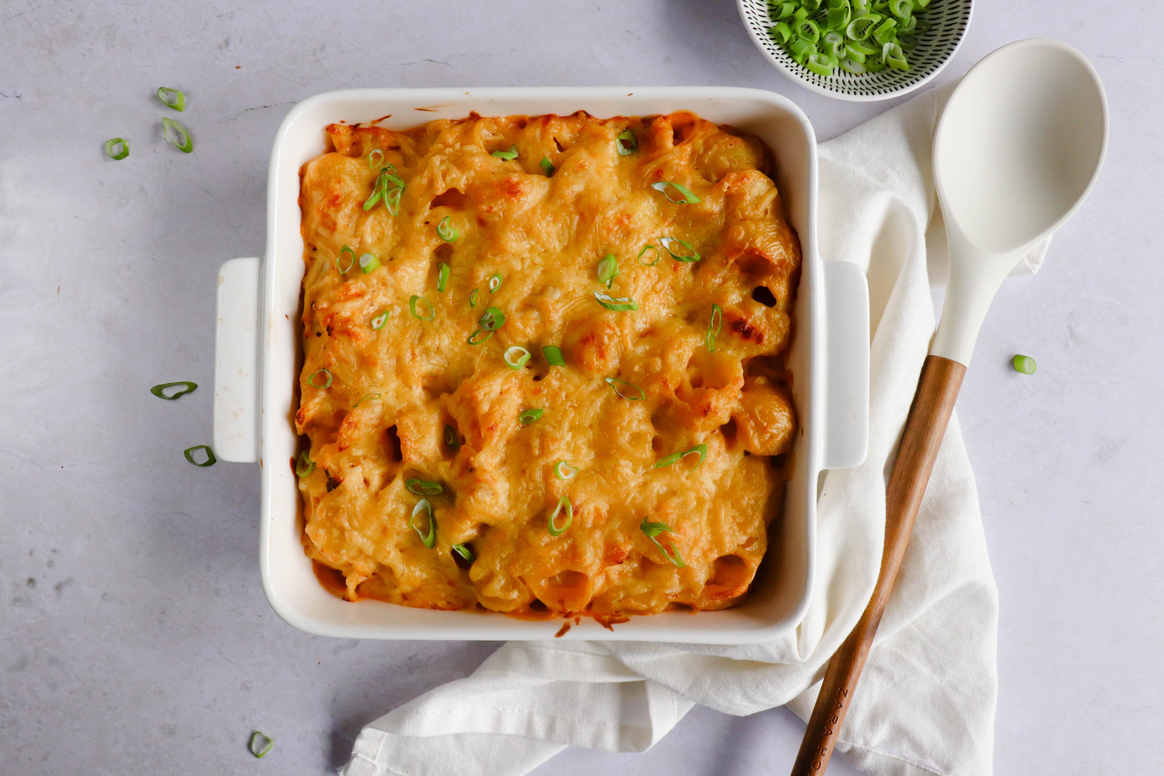 Pasta Ovenschotel met Buffalo Kip