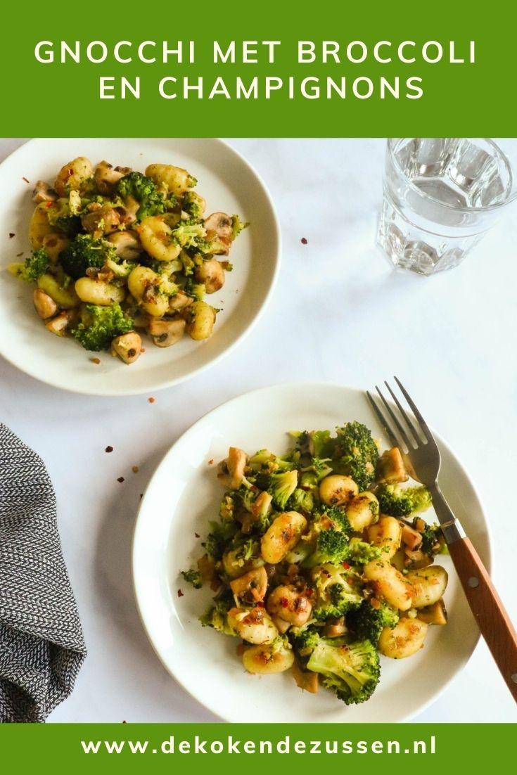 Gnocchi met Broccoli en Champignons