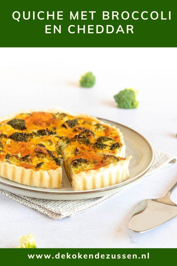 Quiche met Broccoli en Cheddar