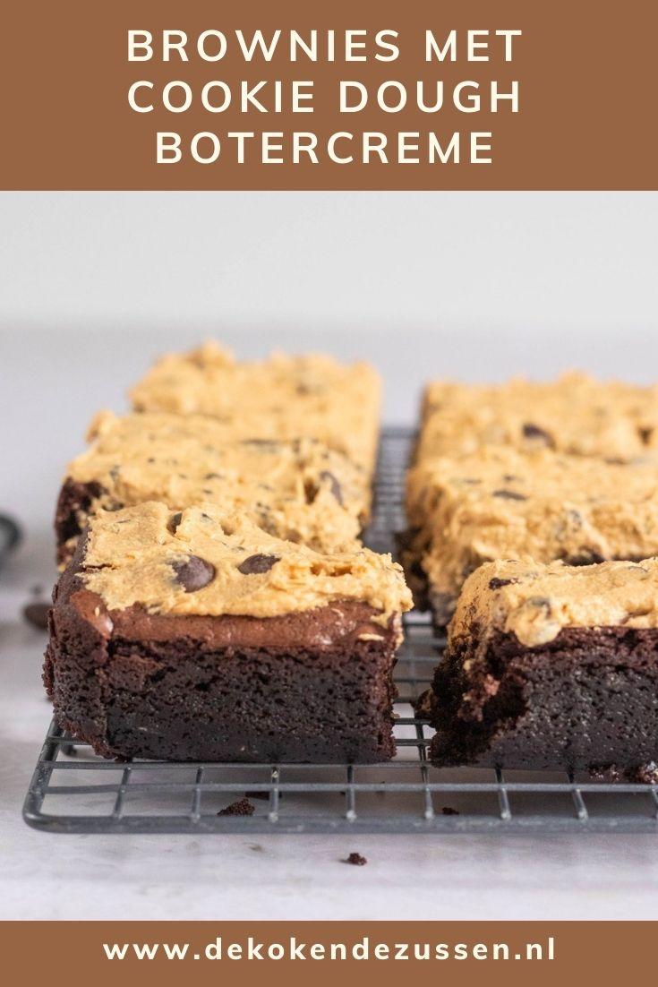 Brownies met Cookie Dough Botercrème