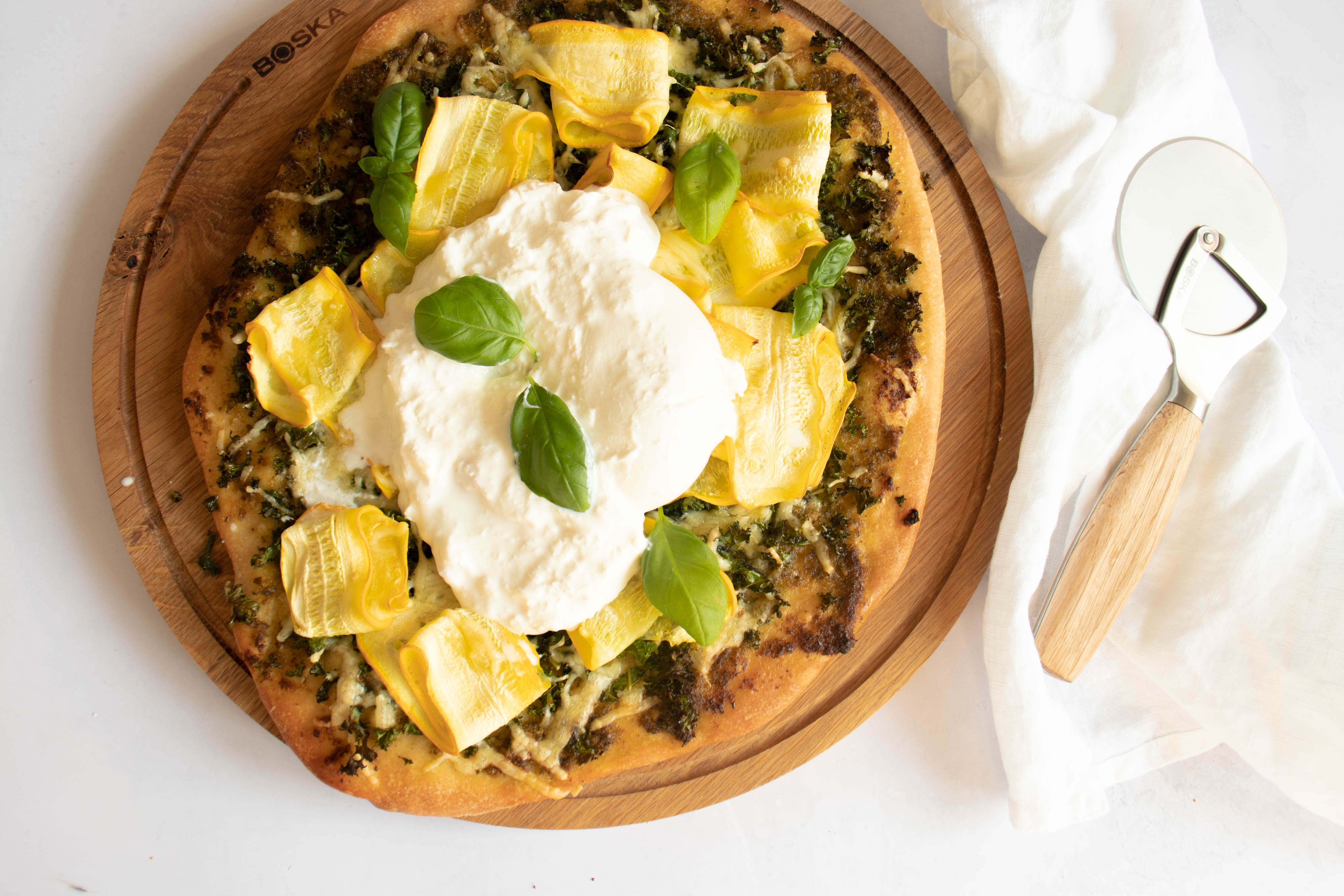 Pesto Pizza met boerenkool