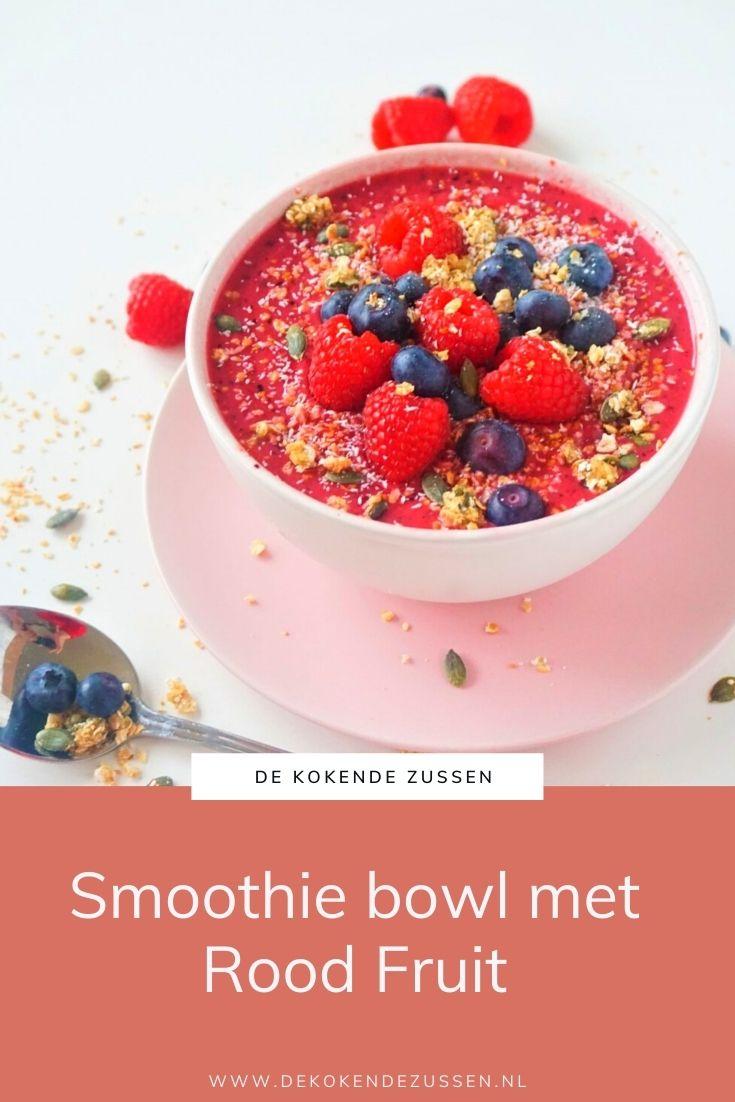 Smoothiebowl van Rood Fruit