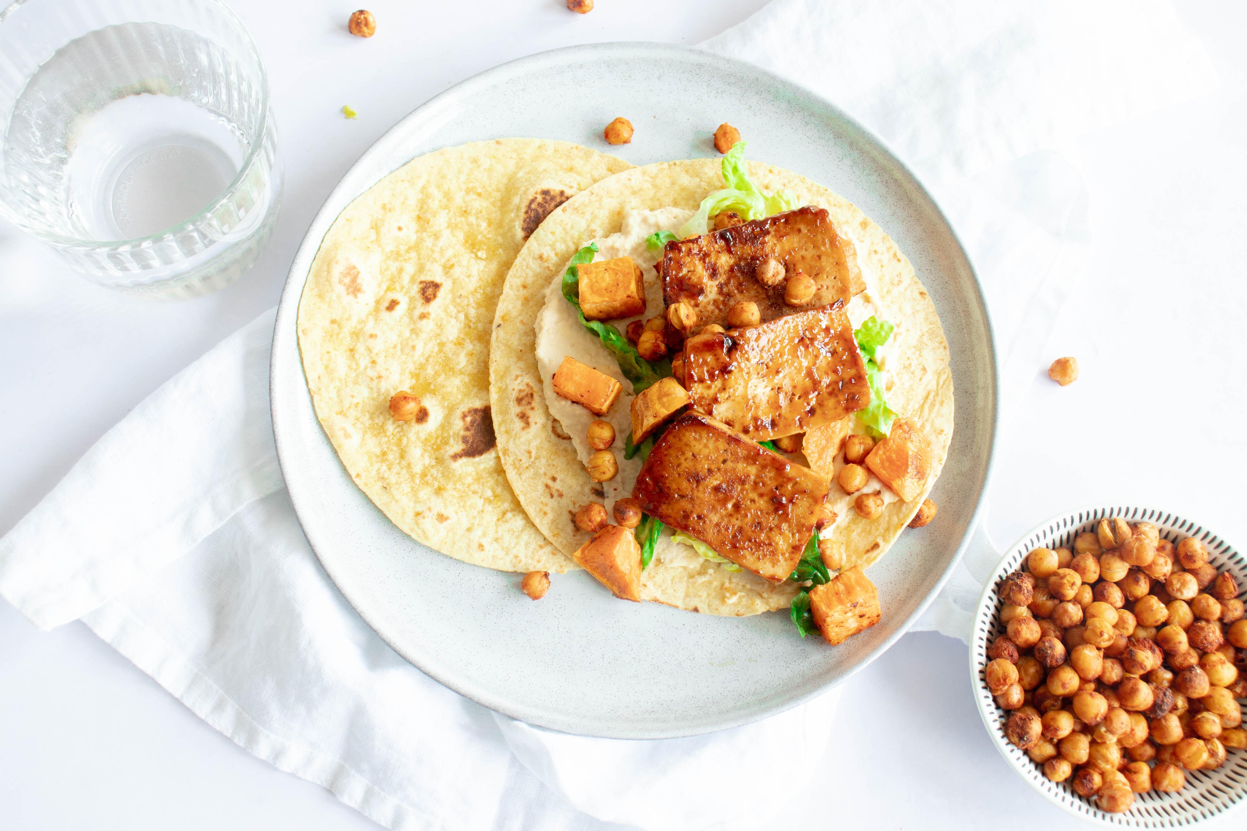 Tofu Wrap met Hummus
