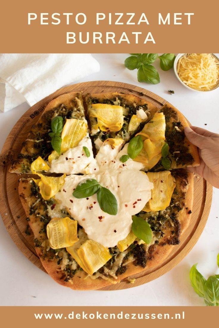 Pesto Pizza met Boerenkool en Courgette