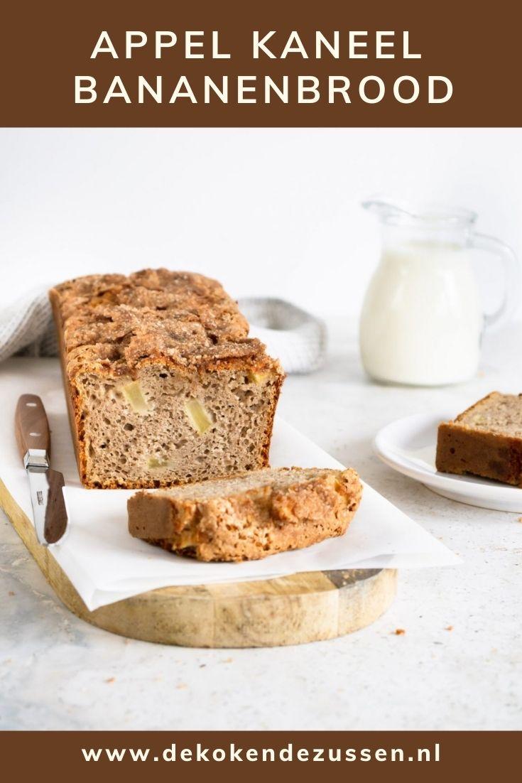 Appel Kaneel Bananenbrood