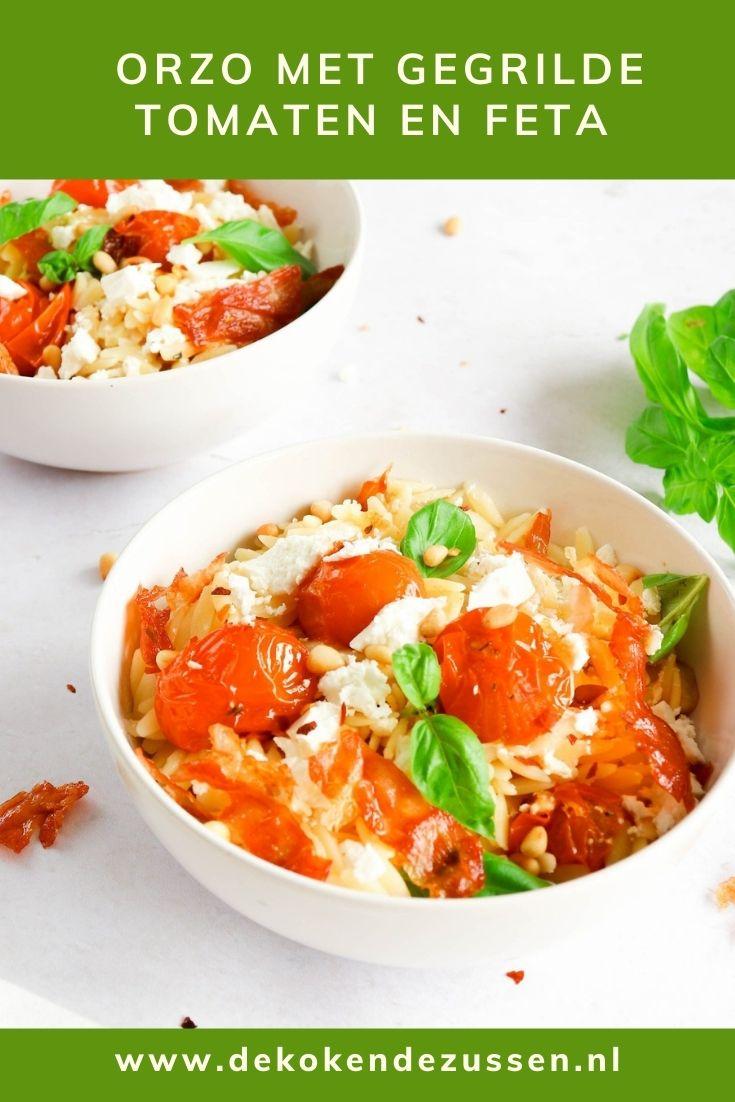 Orzo met Gegrilde Tomaten en Feta