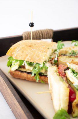 Sandwich met burrata