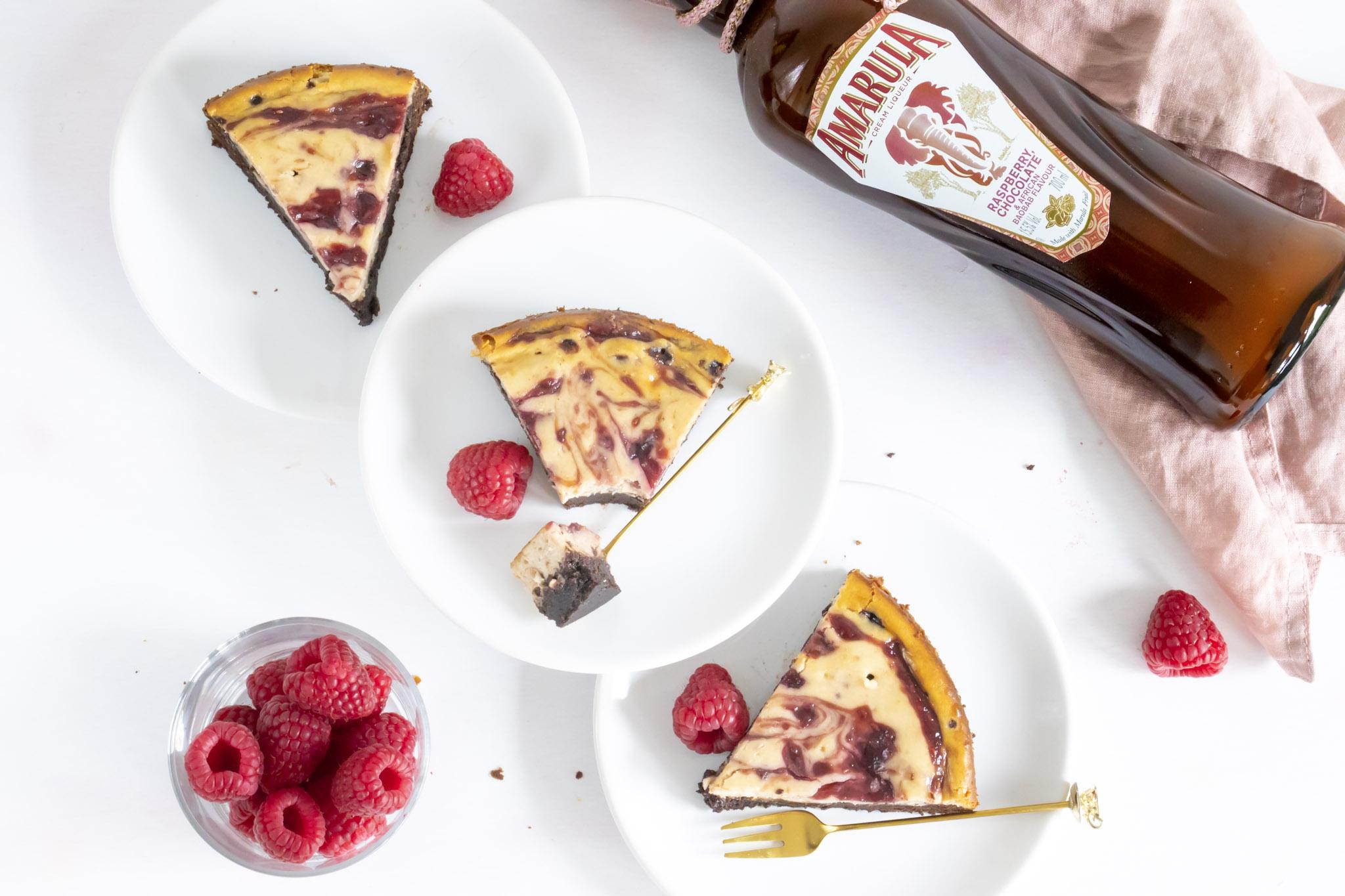 frambozen cheesecake brownies