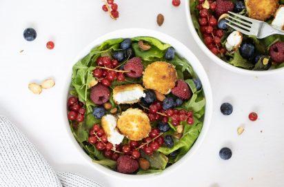 Salade met krokante geitenkaas