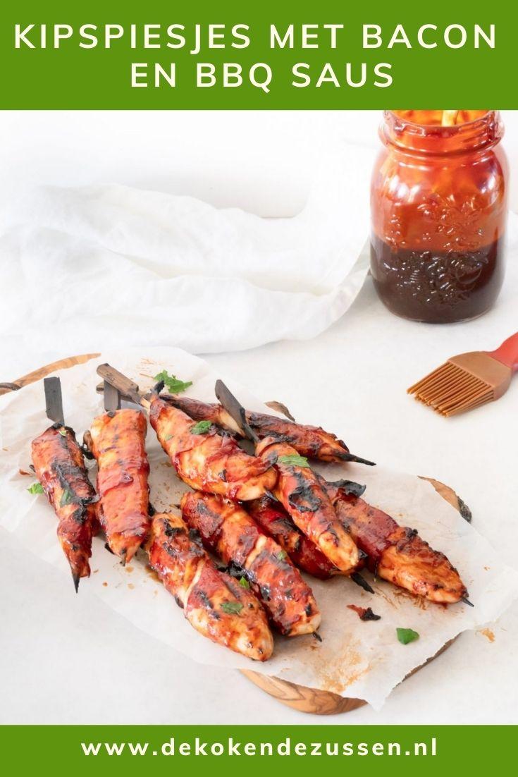 Kip Bacon Spiesjes met BBQ saus
