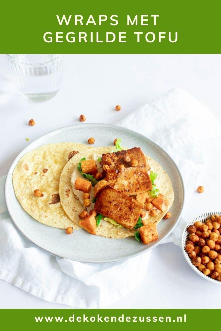 Tofu Wraps met Hummus en Kikkererwten